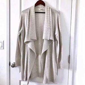 Eileen Fisher Cardigan Organic Cotton Beige XL